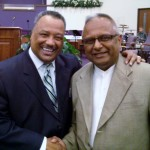 Dr. Fred Luter (left) President of the Southern Baptist Convention with Business Men in Christ President Bernie Lutchman (Springfield, Il)